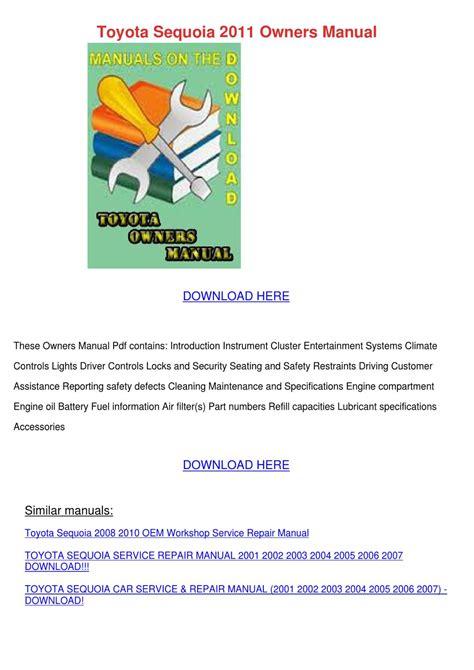 download car manuals pdf free 2011 toyota sequoia auto manual toyota sequoia 2011 owners manual by maybellmckenna issuu