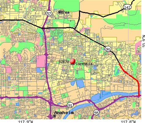 zip code map yorba linda ca 92870 zip code placentia california profile homes