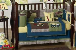 Baby Bedding Sets Trucks Construction Zone Blue Baby Boy Truck Bedding 9pc Crib Set