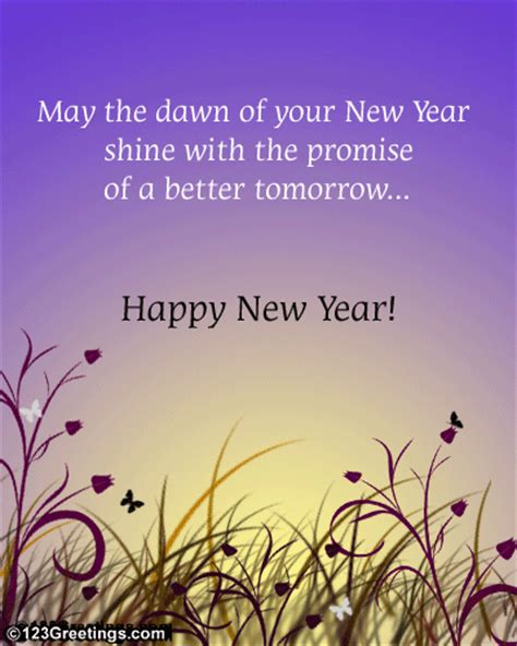 new year inspiring wish free social greetings ecards