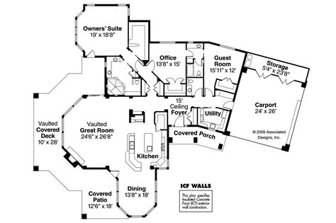 Floor Plans Florida by Florida House Plans Burnside 30 657 Associated Designs