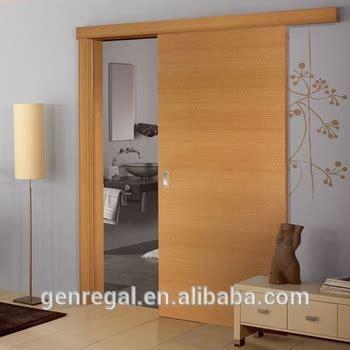 sliding door wood interior interior solid wood single panel sliding door
