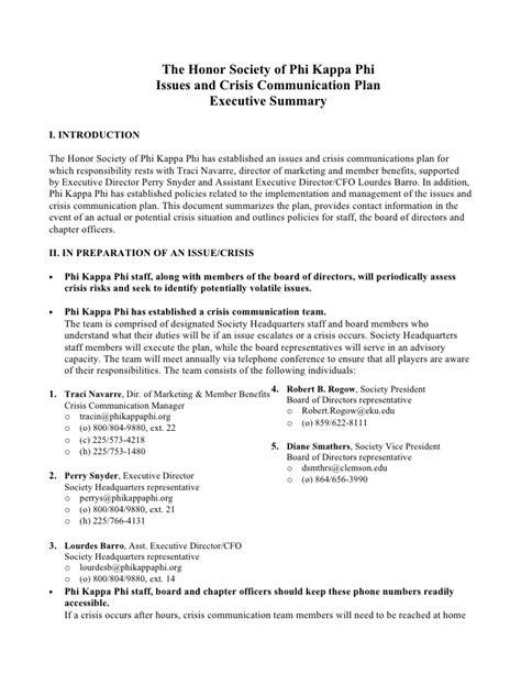 crisis communication plan template crisis communications plan
