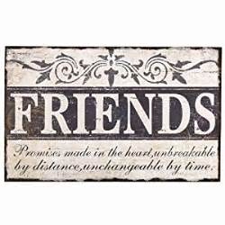 Decorative Signs For The Home by Amazon Com Adeco Sp0106 Quot Friends Quot Vintage Wall Plaque