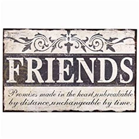 decorative wall signs for the home amazon com adeco sp0106 quot friends quot vintage wall plaque