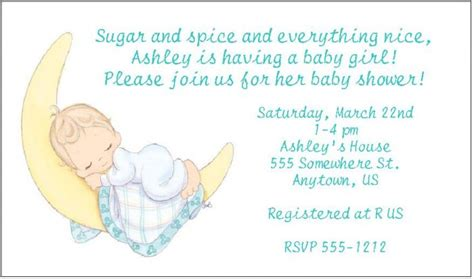 Precious Moments Baby Shower Invitations by 8 Personalized Precious Moments Baby Shower Invitations