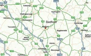 bedford map bedford united kingdom location guide