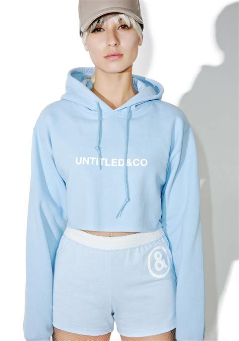 baby hoodies untitled co baby blue cropped hoodie dolls kill