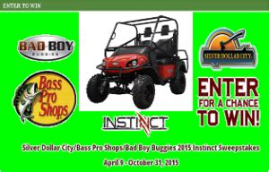 Bad Boy Buggies Sweepstakes - silver dollar city win one bad boy buggies 2015 instinct model u giveawayus com