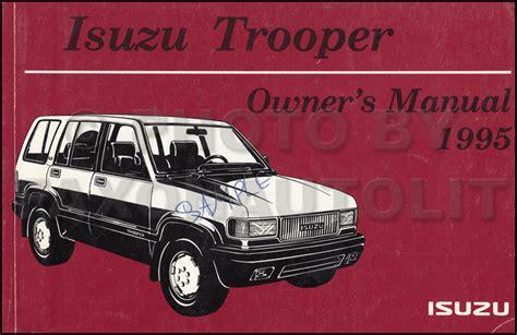 1996 isuzu trooper repair shop manual original 1995 isuzu trooper air bag repair shop manual supplement original