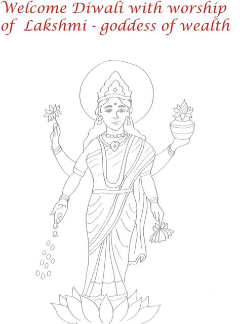 goddess lakshmi free coloring pages