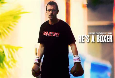 Gordon And Hugh Ask You To Think About Your Food by Reasons To Hugh Laurie Reason 22 He S A Boxer