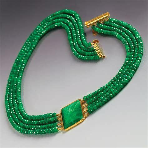 green necklace green sapphire necklace 23527 stauer