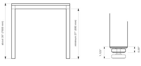 common desk sizes technical details stand architectural hardware 3form