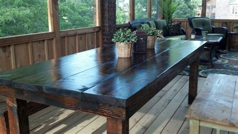 8 outdoor farmhouse table rustic outdoor dining