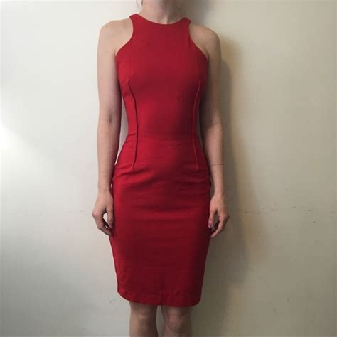 Dress Bodycon Zara zara zara high neck midi bodycon dress from chelsea