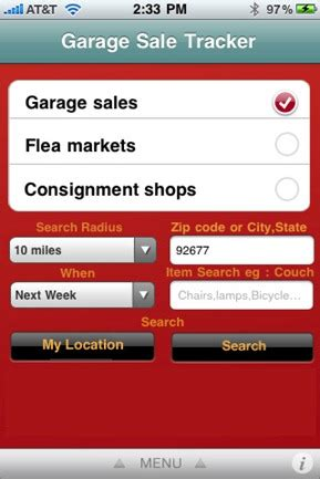 Garage Sale App by Win Free Iphone With Garage Sales Tracker Programmerfish
