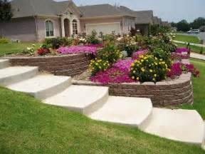steep sloped back yard landscaping ideas sloped front