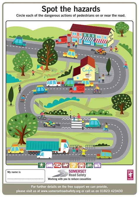 printable road safety games key stage 1 and 2 activity sheets somerset road safety