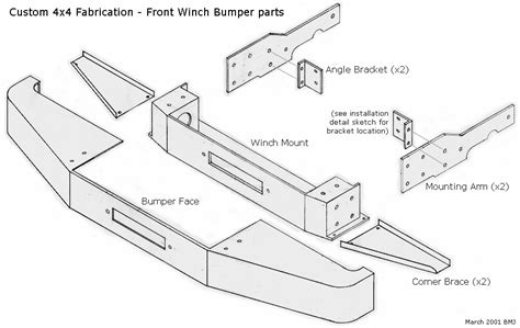 jeep xj front bumper plans front winch bumper installation