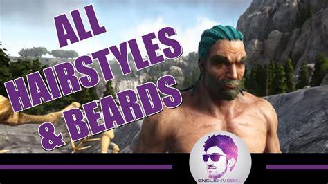 hairstyles ark unlock ark official update all hairstyles beards ragnarok