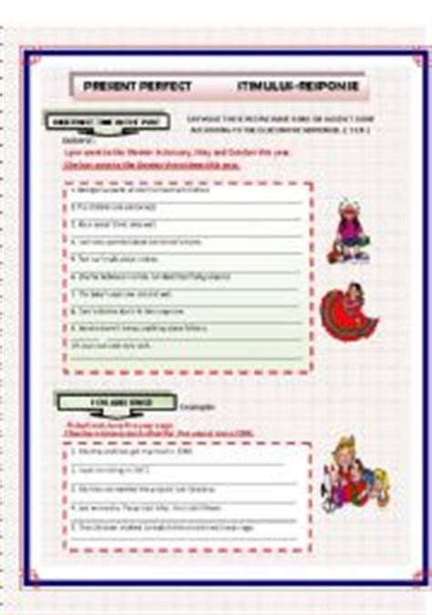 Stimulus And Response Worksheet Answers by Present Stimulus Response Exercises