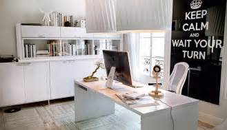 Trendy Office Decor by White Chic Home Office Interior Design Ideas