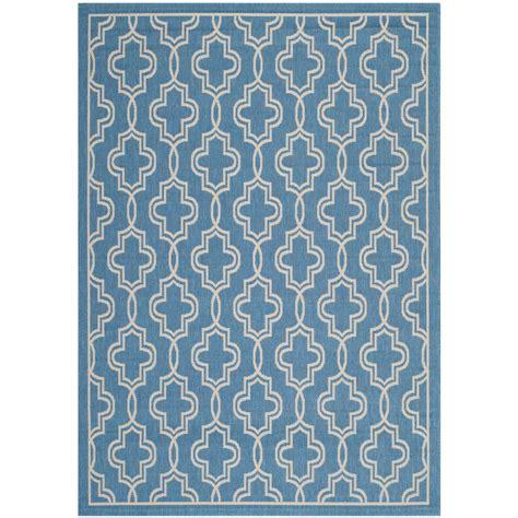 Martha Stewart Outdoor Rugs Safavieh Martha Stewart Blue Beige 4 Ft X 5 Ft 7 In Indoor Outdoor Area Rug Msr4274 243 4