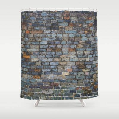 Dwell Shower Curtain - brick shower curtain obsessions pinterest