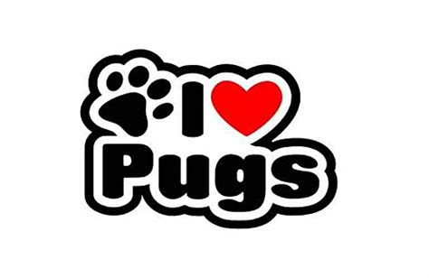 pug sign i pugs pug sticker for car bike cer bumper sign decal
