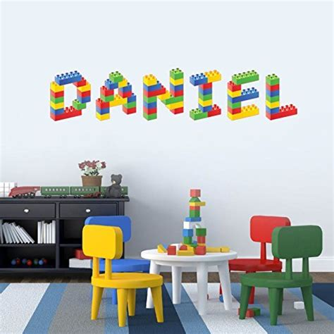 lego baby room personalised name in lego blocks children s bedroom baby nursery wall sticker wall decal wall