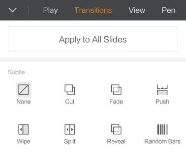 how to unencrypt android how to set up the transitions between slides