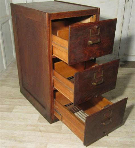 A Large Art Deco 3 Drawer Oak Filing Cabinet   Antiques Atlas