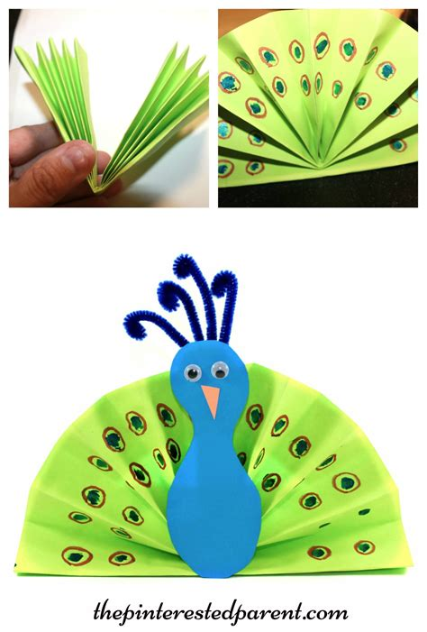 Easy Arts And Crafts For With Construction Paper - bleeding tissue peacocks the pinterested parent
