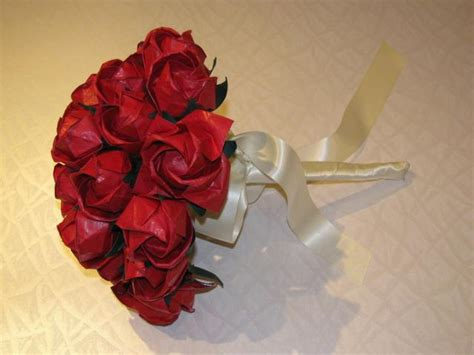 Origami Bouquet Of Roses - origami wedding bouquet with roses pictures jpg hi res