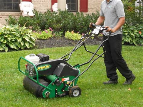 aerating your lawn piedmont master gardeners