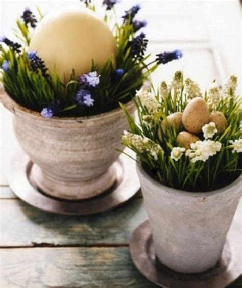 chic easter and eggs arrangements perfect for