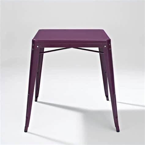 purple table l metal cafe dining table in purple cf220130 pr