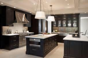 Dark Cabinet Kitchen by Kitchen Decorating Ideas For Dark Brown Cabinets Info