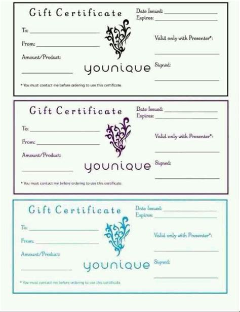 makeup gift certificate template mommies daughters boyfriends and any makeup lover