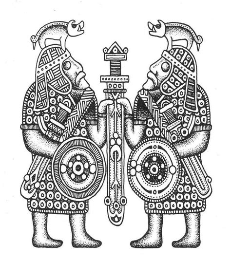 anglo saxon tattoos anglo saxon saxon warrior carving designs patterns