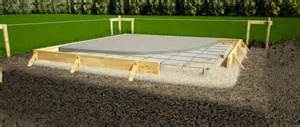 ham how to build a shed slab foundation learn how