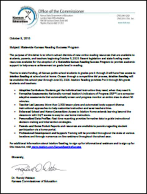 Parent Letter For Istation Istation Kansas Students Gain Free Access To Istation S Award Winning Reading Program