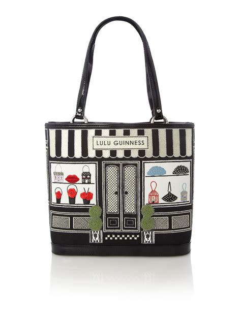 Edith Tote by Lulu Guinness Large Edith Handbag Shop Tote Bag In