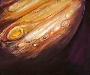 Planet Duvet Cover Jupiter Painting By Sheila Diemert