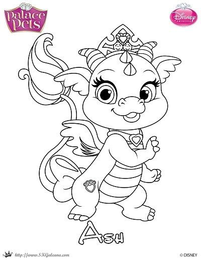 coloring pages princess pets free princess palace pets coloring page of ash skgaleana