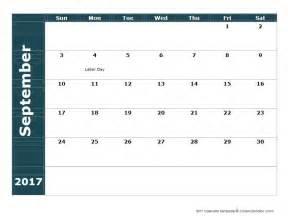 Calendario 2018 Septiembre Calendario 2017 Calendarios 2017 Para Imprimir