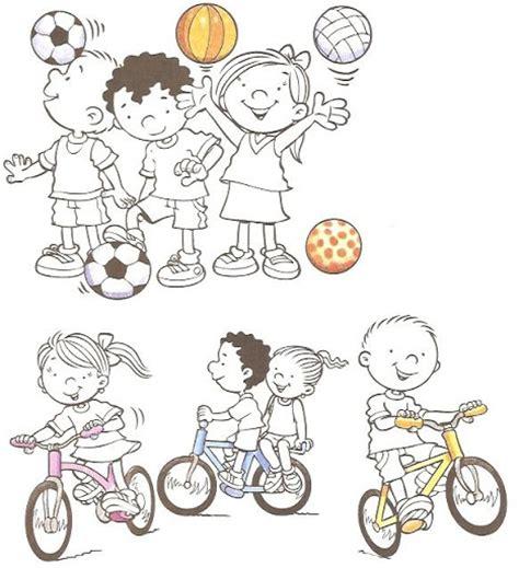 imagenes niños haciendo deporte para colorear dibujos de ni 241 os haciendo deporte imagui