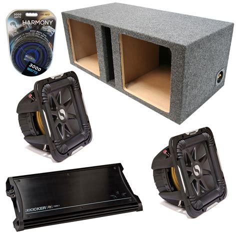 Speaker Subwoofer Kicker kicker car audio loaded dual 15 quot square ported s15l7 l7 subwoofer enclosure sub box with zx1500