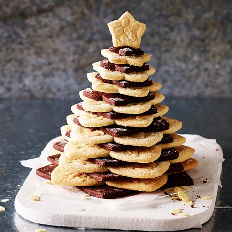 chocolate and almond christmas cookie tree recipes